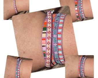Wrap bracelet 5 rows