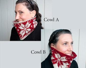 Crochet Pattern-- So Much Snow Cowl - 2 Ways --Crochet Pattern