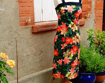 Robe droite Hibiscus, Taille  38