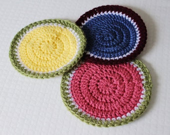 Crochet Summery Hot Pads PATTERN pdf instant digital download for beginners