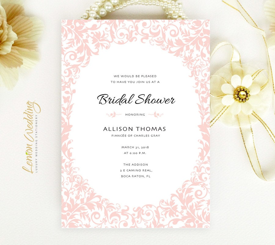Inexpensive Bridal Shower Invitations Printed On Pearlescent