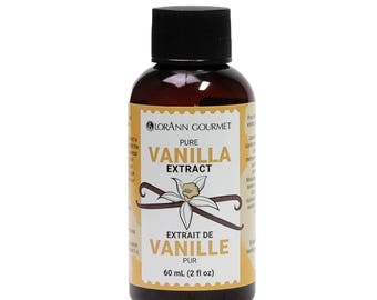 Pure Vanilla Extract, Natural, 2 oz, by LorAnn, No Added Corn Syrup or Sugar