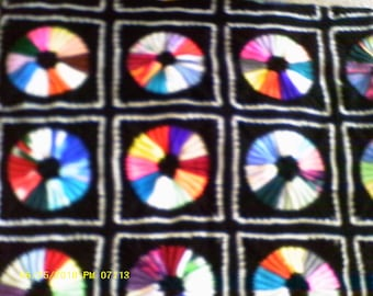 Gorgeous Color Wheel Afghan/Sale