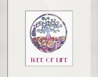 Tree, Tree of Life in Paradise - Fine art print