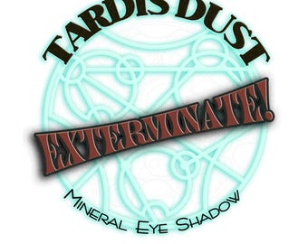 TARDIS DUST *Exterminate!* - Doctor Who Inspired Loose Mineral Eye Shadow - Dalek Smokey Red