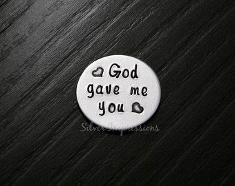 God gave me you Floating Locket Plate  / Floating Locket Plate / Charm Locket Plate