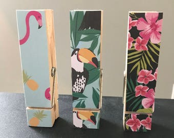 Giant Tropical Clothespin Set