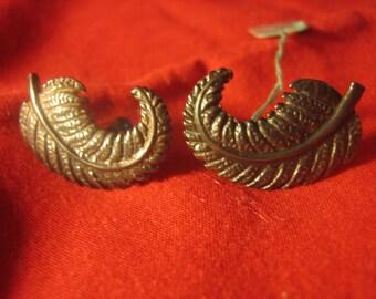 Ming's Fern Leaf Earrings Sterling Silver