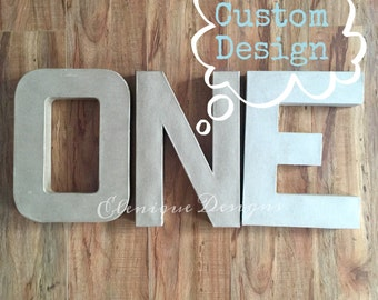 """MADE TO ORDER: Custom Design 12"""" One Letters"""