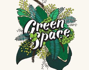 Green Space Botanical Print