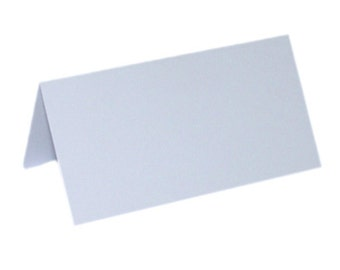 "50 Plain White Place Cards Scored for Easy Bending 4.25"" X 1.75"" Folded"