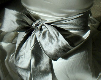dupioni silk sash belt 2.5 inches wide 38 colours available to choose from