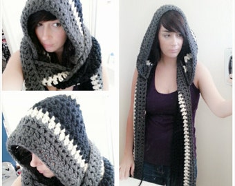 Thick hooded scarf / scoodie (any colors)
