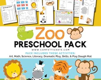 Zoo Preschool Activities Printable educational printable homeschool preschool  - instant download