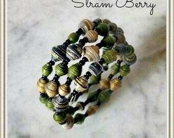 Elegant multithreaded bracelet in paper