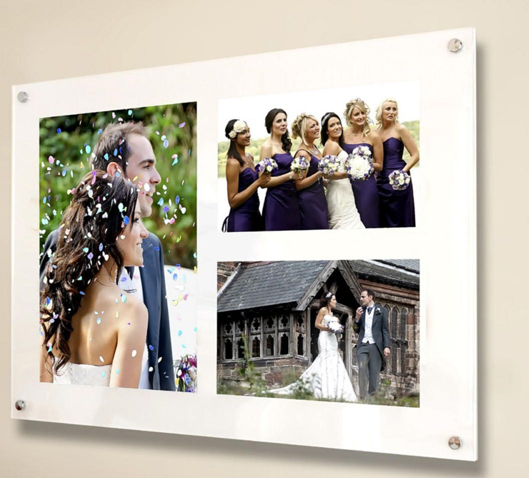 All colours Cheshire Acrylic wall mount multi 10 x 8 & 6 x 4 / 8 x ...