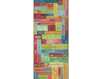 K&Company Scrapbooking Brenda Walton Mini Words and Phrases Embossed Stickers 52 Pieces