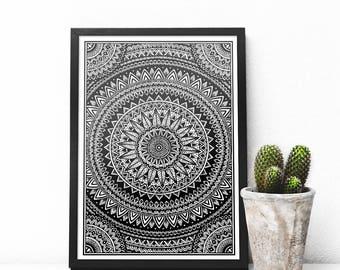 Block Mandala Print