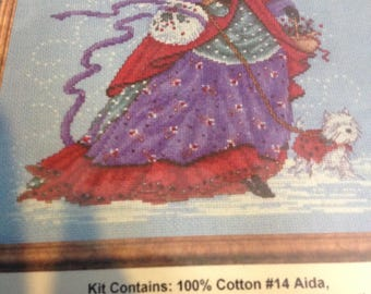 WINTER WALK Counted Cross Stitch Kit by design Works.