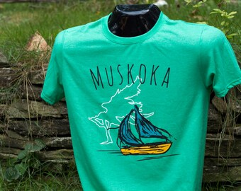 Mens Canadian Muskoka Artsy T-shirt