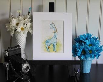 Cobalt the Giraffe - Art Print