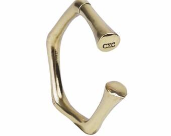 Bracelet, gold-bath design bangle