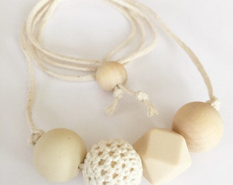 Boho 1 sensory teething nursing necklace