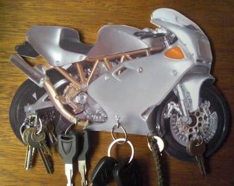 Ducati 900 wall key holder / ducati 900 key hook