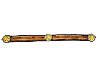 Vintage Kuchi Patch Afghan Tribal Beaded Dress / Kutchi Medallion / 19