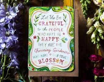 Let Us Be Grateful - Greeting Card