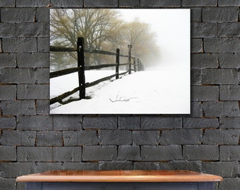 Foggy Nature Scene Art Print, Winter Art Print, Trees In Fog Art, Misty Trees Canvas, Trees Canvas, Tree Photography, Winter Scene