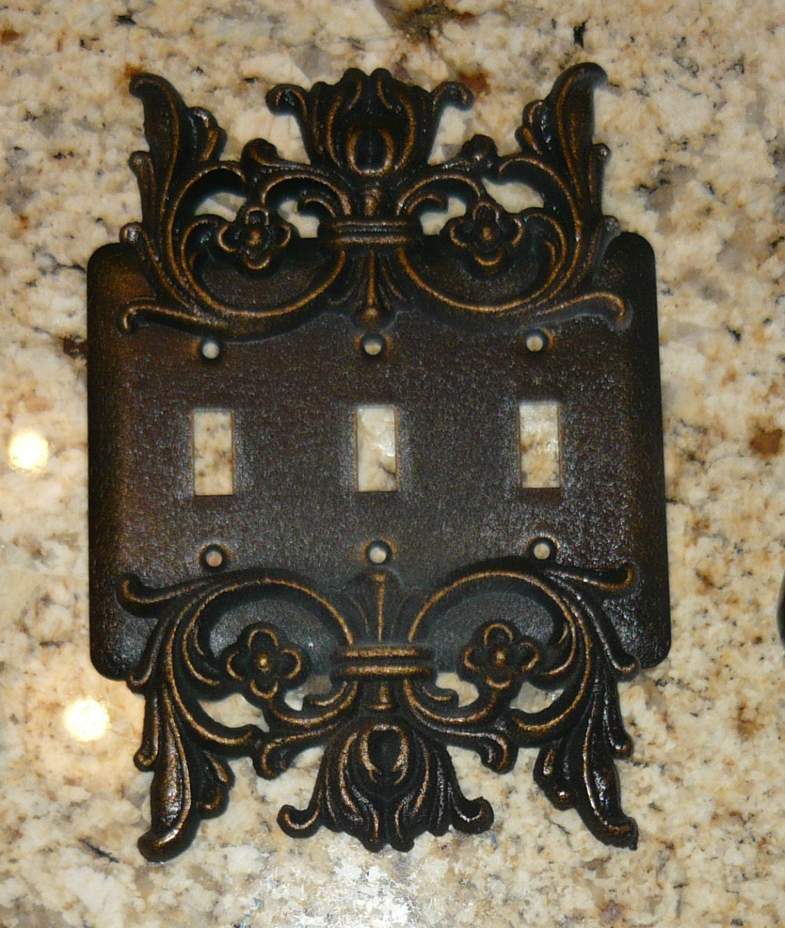 Custom Light Switch Plates Adorable Metal Triple Light Switch Plate Free Usa Shipping Old Design Decoration