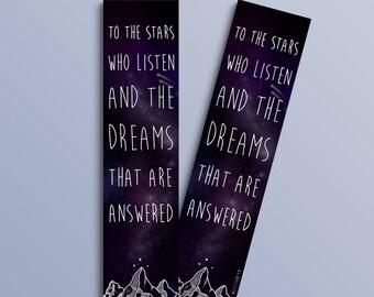 Stars Who Listen bookmark (ACOMAF inspired)