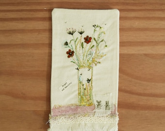 Bright and Beautiful Hand Crafted Bookmark by Vivien Brown
