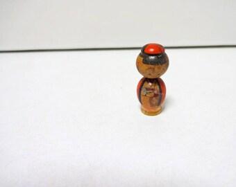 1.3inch Vintage Japanese Miniature Wood KOKESHI Doll