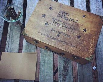 Baby Time Capsule Box, First Birthday Time Capsule Ideas, Sentimental Gift, Small Memory Box, Rustic Keepsake Box, In Loving Memory