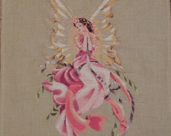 Fairy Queen Titania Cross-Stitched Picture