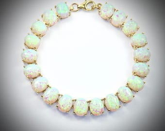 white bracelet opals product silver opal fremantle sterling close