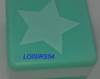 MOSS green star stamp 2.5 mm x 2.5 mm
