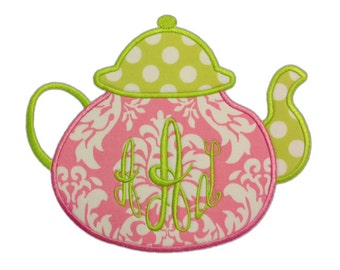 Teapot Applique Design 216