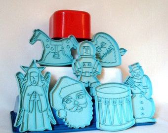 Stanley Cookie Cutters 7 Holidays Blue Astronaut Christmas Drum Valentine