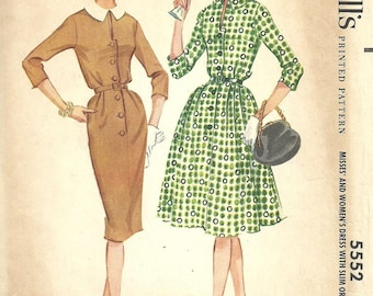 McCalls 5552 // Vintage 60s Sewing Pattern // Dress // Size 16 Bust 36