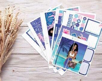 Planner Stickers   Weekly Kit - Island Girl   Erin Condren Vertical