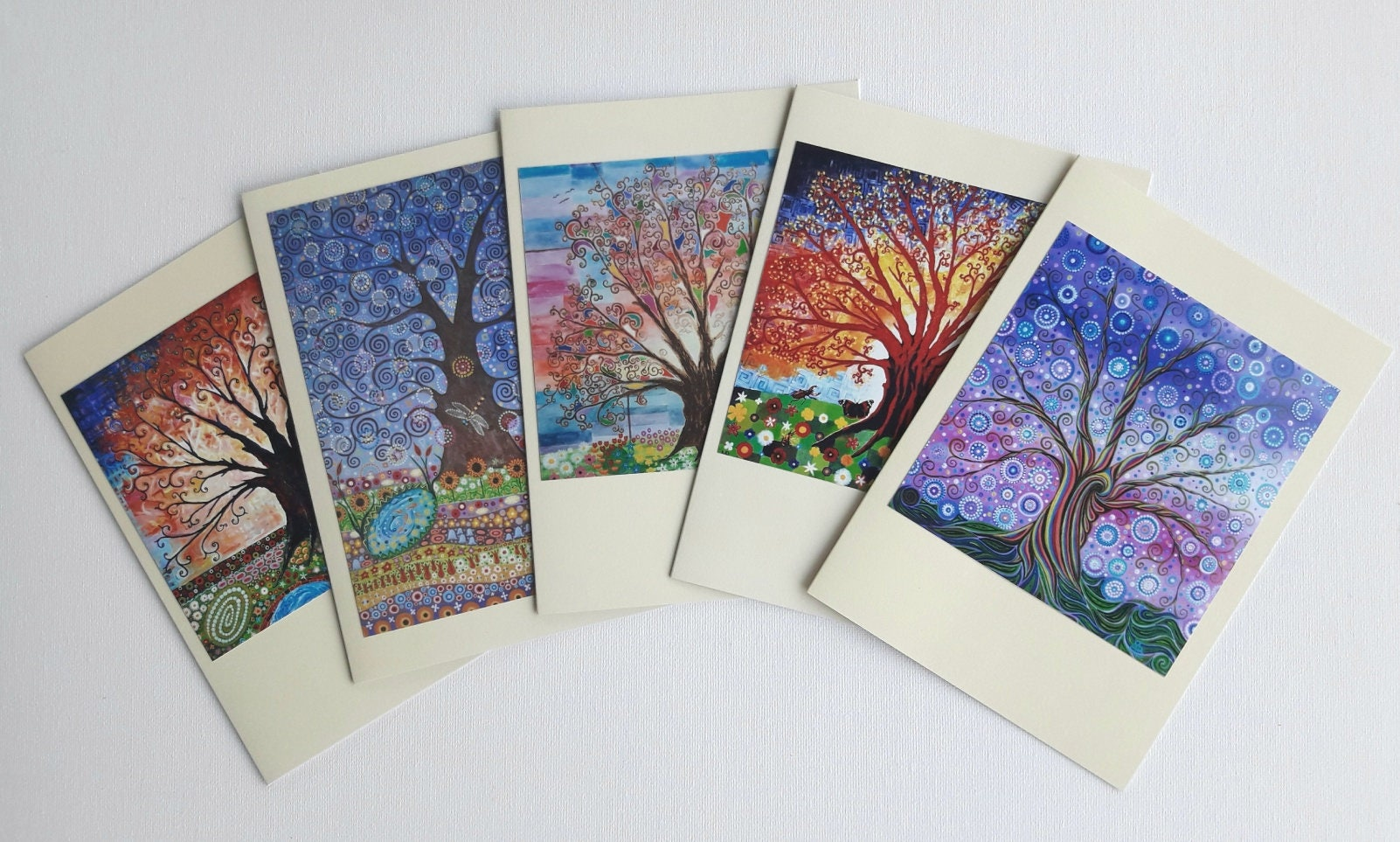 Tree of life art nouveau greeting cards psychedelic nature and description tree of life art nouveau inspired greeting card kristyandbryce Gallery