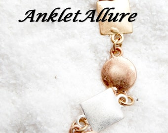 MIXED METAL Ankle Bracelet Chain Anklets Rose Gold Anklets for Women GUARANTEED