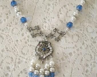 Blue Necklace, boho jewelry bohemian jewelry gypsy jewelry moroccan jewelry hippie hipster boho necklace bohemian necklace gypsy necklace