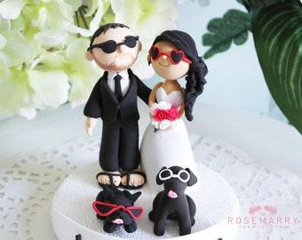 Custom Cake Topper- Hot Summer Wedding