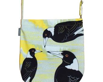Magpie Australian Design Canvas Tote, Messenger bag or iPad bag - Perfect Australian Gift