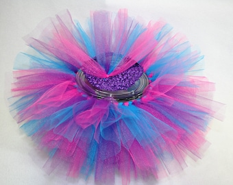 Bright Pink, Blue and Purple Short and Sassy Tutu Dress Up Skirt #T1-5, T3-1