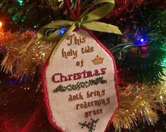 Hand sewn Christmas ornament